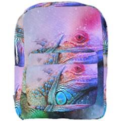 Lizard Reptile Art Abstract Animal Full Print Backpack by Celenk