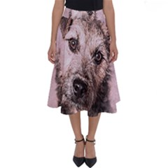Dog Pet Terrier Art Abstract Perfect Length Midi Skirt