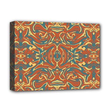 Multicolored Abstract Ornate Pattern Deluxe Canvas 16  X 12   by dflcprints