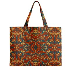 Multicolored Abstract Ornate Pattern Zipper Mini Tote Bag by dflcprints