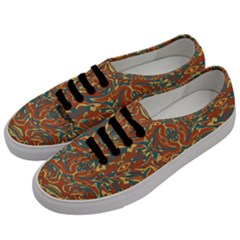 Multicolored Abstract Ornate Pattern Men s Classic Low Top Sneakers by dflcprints