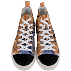 Elephants Animal Art Abstract Men s Mid Top Canvas Sneakers