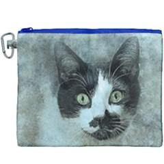 Cat Pet Art Abstract Vintage Canvas Cosmetic Bag (xxxl) by Celenk