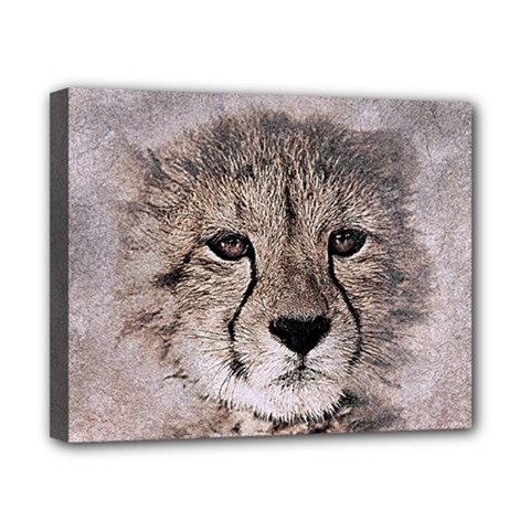 Leopard Art Abstract Vintage Baby Canvas 10  X 8