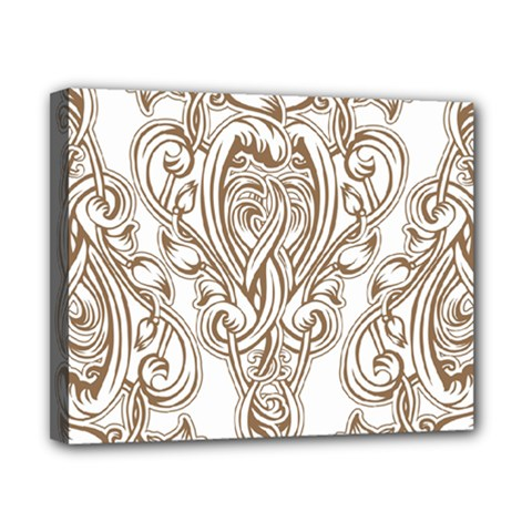 Beautiful Gold Floral Pattern Canvas 10  X 8  by 8fugoso