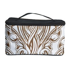Beautiful Gold Floral Pattern Cosmetic Storage Case by 8fugoso