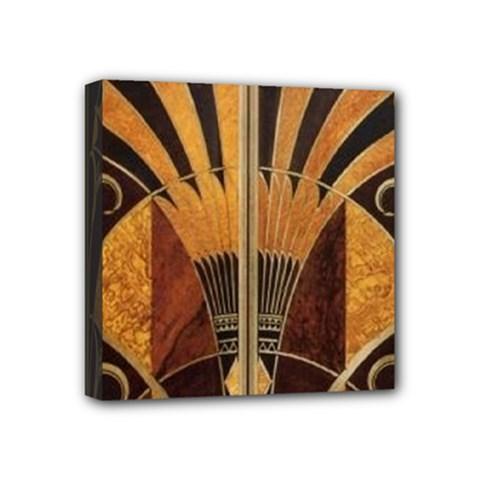 Art Deco Gold Mini Canvas 4  X 4  by 8fugoso