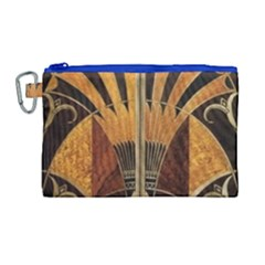 Art Deco Gold Canvas Cosmetic Bag (large)