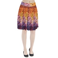 Music Notes Pleated Skirt by linceazul