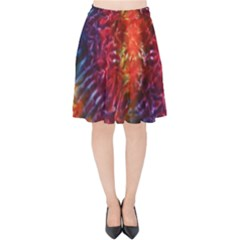 Vibrant Hippy Tye Dye Velvet High Waist Skirt by KirstenStar