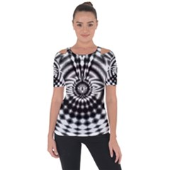 Ornaments Pattern Black White Short Sleeve Top