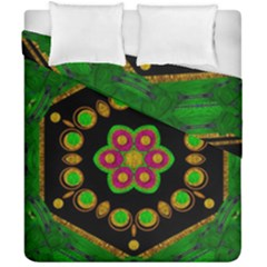Magic Of Life A Orchid Mandala So Bright Duvet Cover Double Side (california King Size) by pepitasart