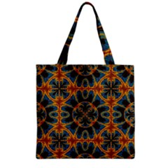 Tapestry Pattern Grocery Tote Bag by linceazul