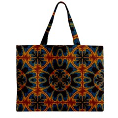 Tapestry Pattern Zipper Mini Tote Bag by linceazul