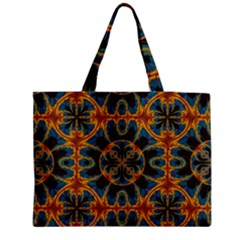 Tapestry Pattern Zipper Medium Tote Bag by linceazul