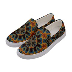 Tapestry Pattern Women s Canvas Slip Ons by linceazul