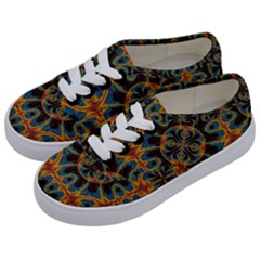 Tapestry Pattern Kids  Classic Low Top Sneakers by linceazul