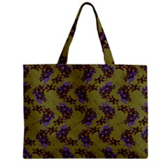 Green Purple And Orange Pear Blossoms Zipper Mini Tote Bag by ssmccurdydesigns