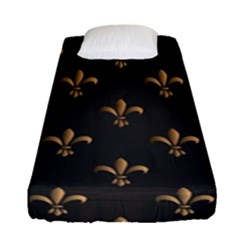 Fleur De Lis Fitted Sheet (single Size) by 8fugoso