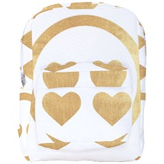 Gold Smiley Face Full Print Backpack by 8fugoso