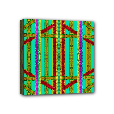 Gift Wrappers For Body And Soul In  A Rainbow Mind Mini Canvas 4  X 4  by pepitasart