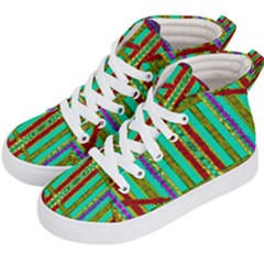 Gift Wrappers For Body And Soul In  A Rainbow Mind Kid s Hi Top Skate Sneakers by pepitasart