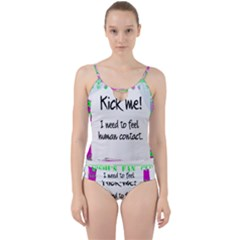 Kick Me! Cut Out Top Tankini Set