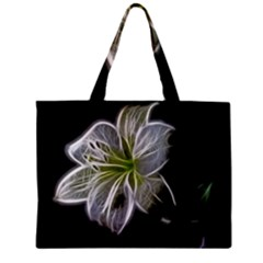 White Lily Flower Nature Beauty Zipper Mini Tote Bag by Celenk