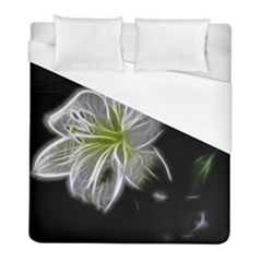 White Lily Flower Nature Beauty Duvet Cover (full/ Double Size) by Celenk