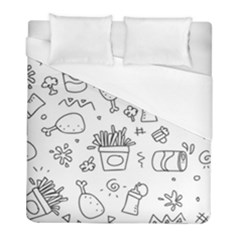 Set Chalk Out Scribble Collection Duvet Cover (full/ Double Size) by Celenk