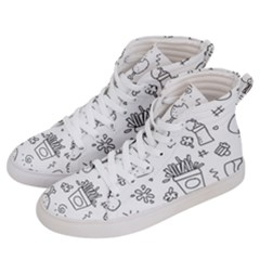 Set Chalk Out Scribble Collection Men s Hi Top Skate Sneakers by Celenk