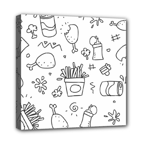 Set Chalk Out Scribble Collection Mini Canvas 8  X 8