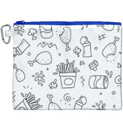 Set Chalk Out Scribble Collection Canvas Cosmetic Bag (xxxl) by Celenk
