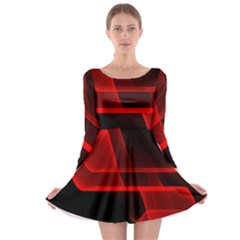 Background Light Glow Abstract Art Long Sleeve Skater Dress