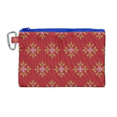 Pattern Background Holiday Canvas Cosmetic Bag (large) by Celenk