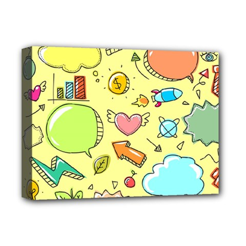 Cute Sketch Child Graphic Funny Deluxe Canvas 16  X 12   by Celenk