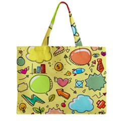 Cute Sketch Child Graphic Funny Zipper Mini Tote Bag by Celenk