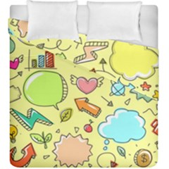Cute Sketch Child Graphic Funny Duvet Cover Double Side (king Size) by Celenk