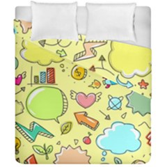Cute Sketch Child Graphic Funny Duvet Cover Double Side (california King Size) by Celenk