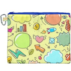 Cute Sketch Child Graphic Funny Canvas Cosmetic Bag (xxxl) by Celenk