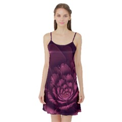 Fractal Blossom Flower Bloom Satin Night Slip by Celenk
