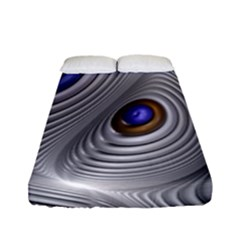 Fractal Silver Warp Pattern Fitted Sheet (full/ Double Size) by Celenk