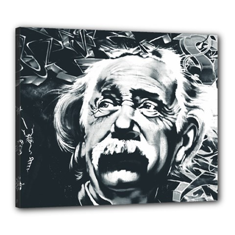 Einstein Albert Einstein Street Art Canvas 24  X 20  by Celenk