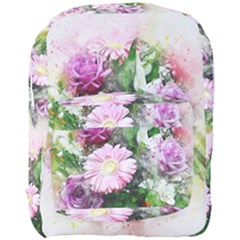 Flowers Roses Bouquet Art Nature Full Print Backpack by Celenk