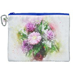 Flowers Roses Bouquet Art Nature Canvas Cosmetic Bag (xxl) by Celenk