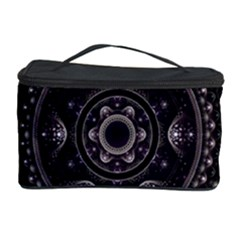 Fractal Mandala Circles Purple Cosmetic Storage Case by Celenk