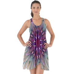 Mandala Kaleidoscope Ornament Show Some Back Chiffon Dress by Celenk