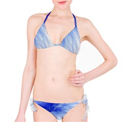 Spring Blue Colored Bikini Set by Celenk