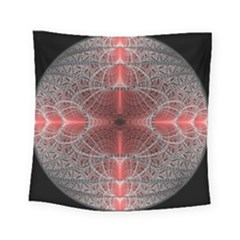 Fractal Diamond Circle Pattern Square Tapestry (small) by Celenk