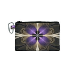 Fractal Glow Flowing Fantasy Canvas Cosmetic Bag (small) by Celenk